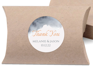 Modern Grey Watercolor Favor Label