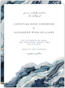Modern Ink Geode Wedding Invitation
