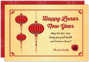 Celebratory Chinese Lantern New Year Card