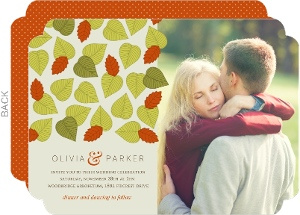 Falling Autumn Leaves Wedding Invitation