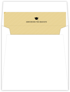 Gold Graduation Cap Envelope Liner