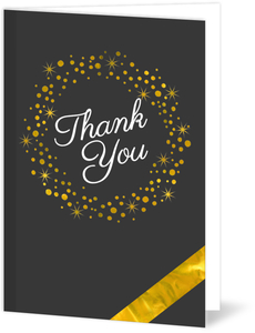 Faux Gold Foil Blank Thank You Card