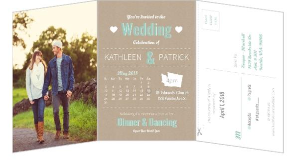 Wedding Timeline Invitations: Journey Of Love Timeline Wedding Invitation