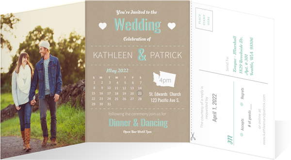 Wedding Rsvp Timeline Etiquette: Journey Of Love Timeline Wedding Invitation