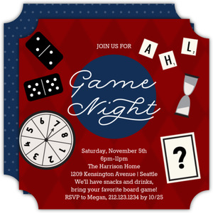 Retro Game Night Invitation