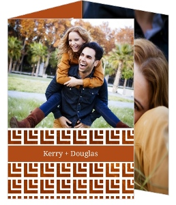 Copper Geometric Pattern Wedding Invitation