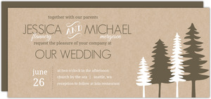 Rustic Pine Trees  Wedding Invitation