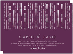 Hanging White Willow  Wedding Invitation