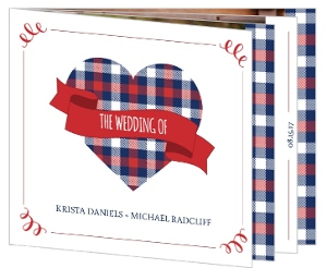 Country Plaid Wedding Invitation