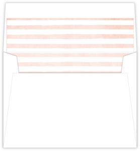 Delicate Pink Striped Watercolor Envelope Liner