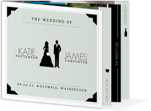 Modern Infographic Wedding Invitation