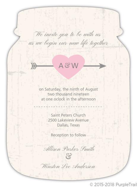 Rustic Heart Barn Door Wedding Invite
