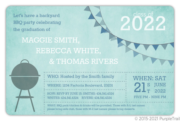 group graduation bbq party invitation graduation invitations