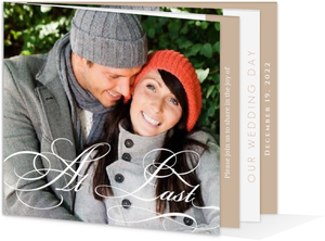 Sweet Brown Elegance Booklet Wedding Invite