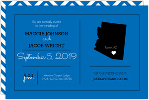 Personalized State Wedding Invititation