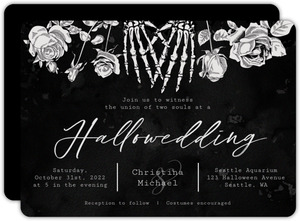 Vintage Gothic Wedding Invitation