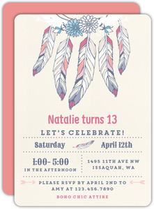 Bohemian Chic Birthday Party Invitation