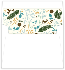 Whimsical Woodland Foliage Wedding Envelope Liner