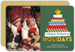 Washi Tape Tree Holiday Photo Card