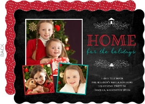 Chalkboard Home For Holidays Moving Announcement