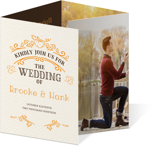 Rustic Pumpkin Accordion Wedding Invitation