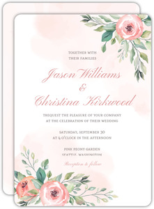 Blush Floral Arrangement Wedding Invitation