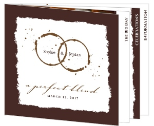 Brown Coffee Perfect Blend  Wedding Invite Booklet