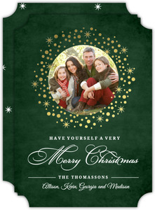 Confetti Wreath Christmas Photo Card