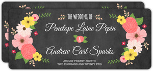 Chalkboard Country Floral  Wedding Invitation