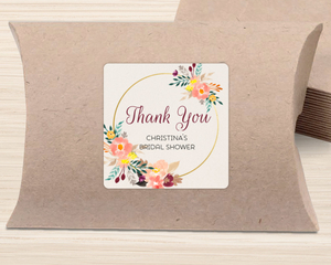 Floral Hoop Favor Label