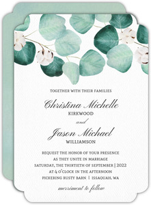 Elegant Silver Dollar Wedding Invitation