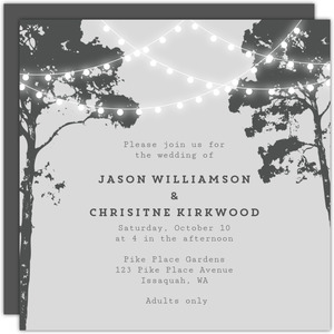 Tree Lights Wedding Invitation