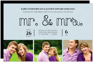 Modern Mr and Mrs Wedding Invite