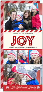 Red Foil Joy Family Holiday Photo Card
