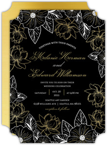 Elegant Floral Decor Wedding Invitation