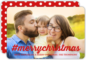 Hashtag Christmas Holiday Photo Card