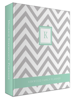 Simply Chevron Custom 3 Ring Binder