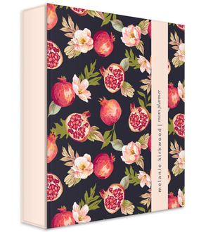 Pomegranate and Florals 3 Ring Binder