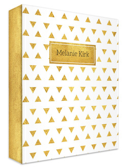 Golden Modern Triangle Pattern 3 Ring Binder