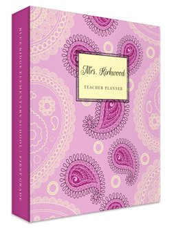 Pink Paisley Pattern 3 Ring Binder