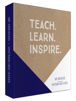 Teach Learn Inspire Custom 3 Ring Binder