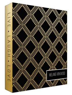 Faux Gold Aztec Pattern Custom 3 Ring Binder