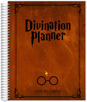 Vintage Rustic Brown Divination Teacher Planner