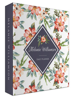 Delicate Watercolor Floral Custom 3 Ring Binder