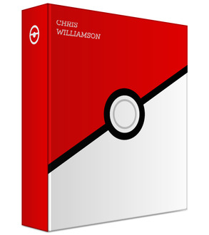 Red and White Ball 3 Ring Binder
