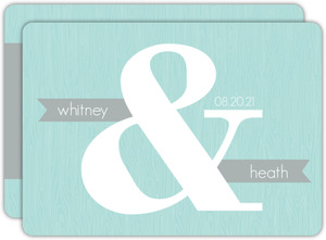 Blue and Gray Modern  Wedding Invitation