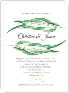 Winter Greenery Wedding Invitation