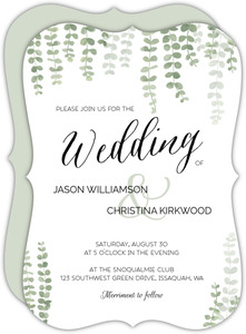Eucalyptus Branches Wedding Invitation