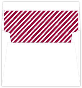 Formal Red and White Stripes Liner