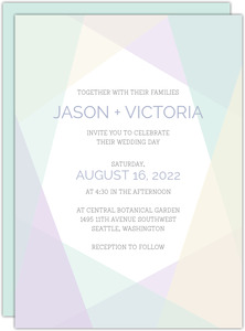 Geometric Modern Wedding Invitation